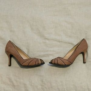 Bandolino Taupe Peep Toe Heels- 8.5